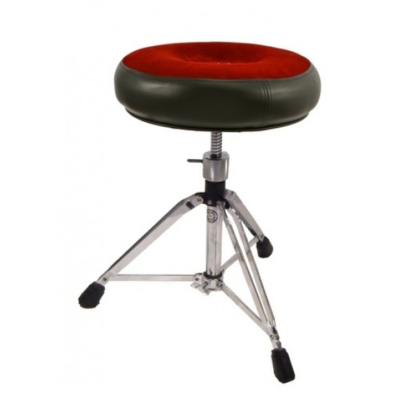 Roc-N-Soc Drum Throne  Manual Spindle w/ Round Red Seat