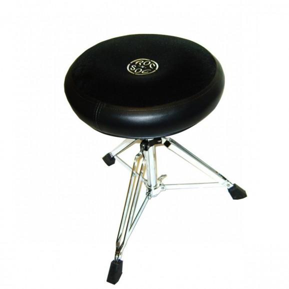 Roc-N-Soc Drum Throne Manual Spindle w/Round Black Seat