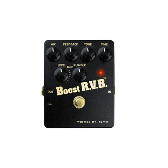 Tech 21 Boost RVB Reverb Emulator Effect Pedal