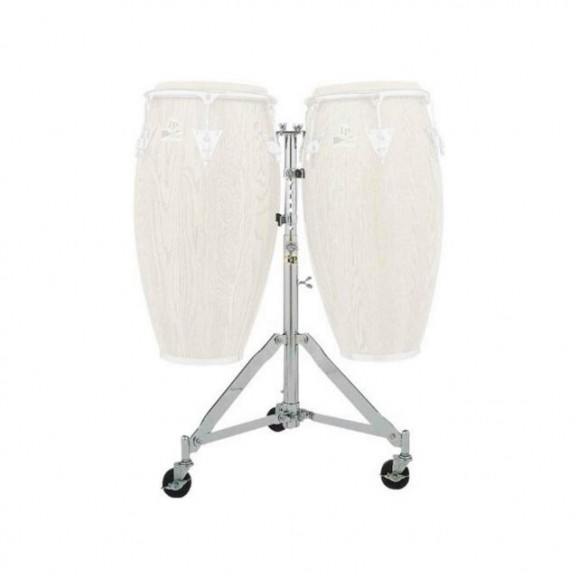 LP Double Conga Stand Heavy Duty with Wheels