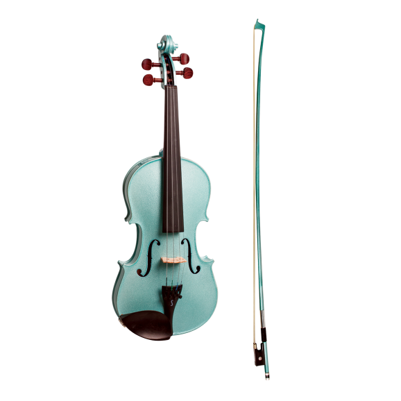 Stentor Harlequin Series 4/4 Full Size Violin in Metallic Light Blue