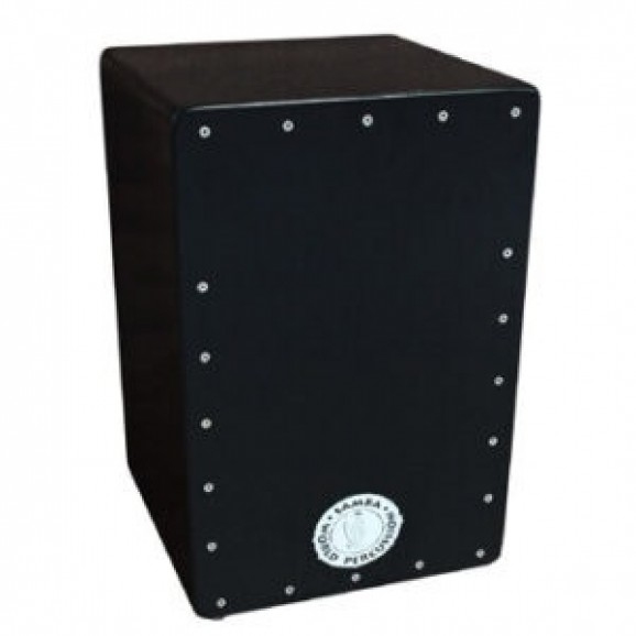 Samba Cajon Standard with Adjustable Strings and Screwed on Front  Black
