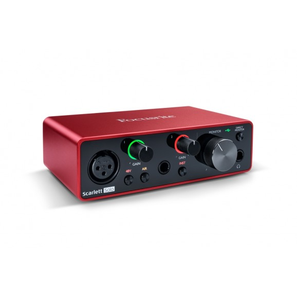 Focusrite Scarlet Solo Gen 3 USB C 2x2 Audio Interface