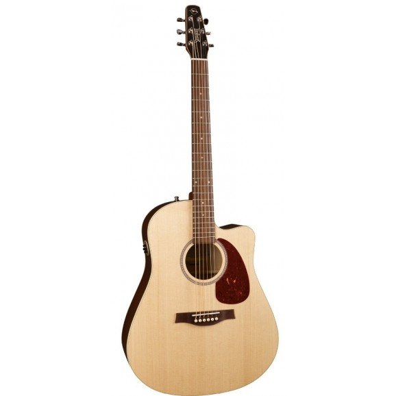 Seagull S6 Coastline Slim Dreadnought with Cutaway Acoustic Electric Guitar Solid Spruce Top