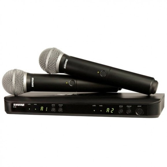 Shure BLX288 / PG58 Dual Wireless Mic System M17