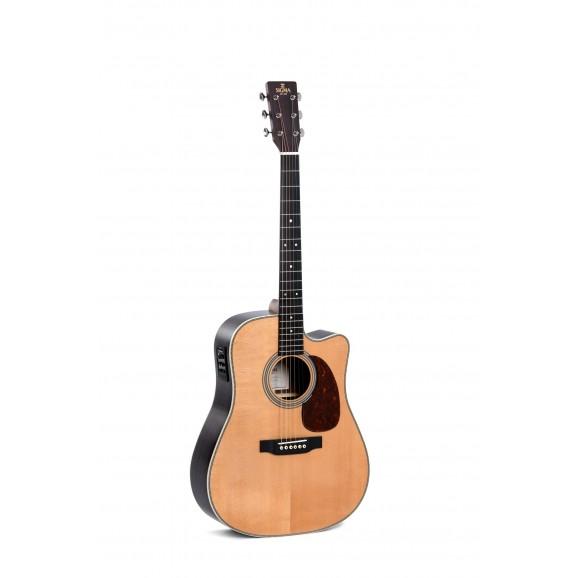 Sigma DTC-28HE Cutaway Electric / Acoustic Guitar