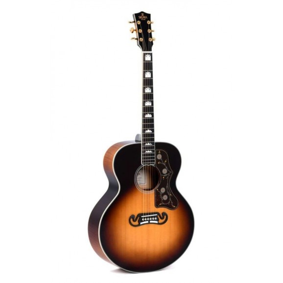Sigma GJA-SG200 Jumbo Acoustic / Electric Guitar in Tobacco Sunburst