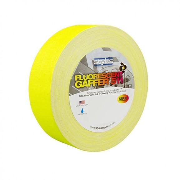 Stylus 511 Neon/Fluorescent Yellow Gaffer Tape - 48mm x 45m