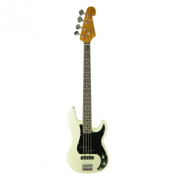 Essex P&J Bass in White includes Gig Bag
