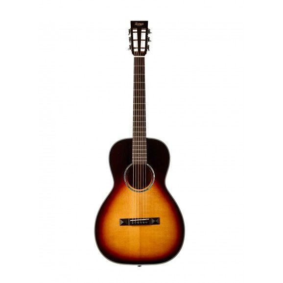 Tasman TA100P-E Parlour Acoustic Electric Guitar with Case