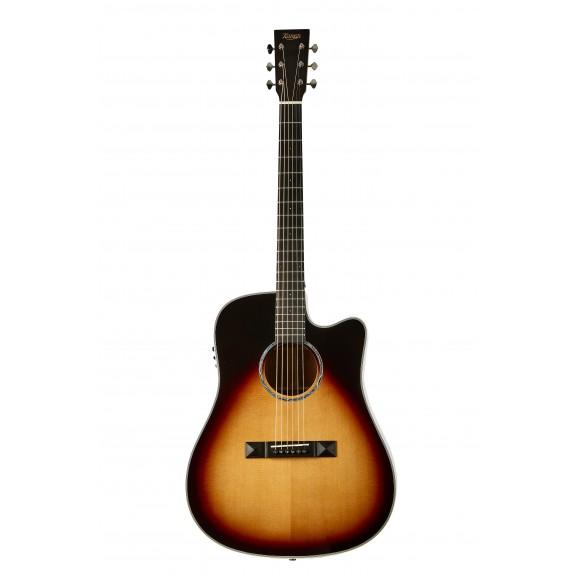Tasman TA300-CE Cutaway Acoustic Electric Guitar with Case