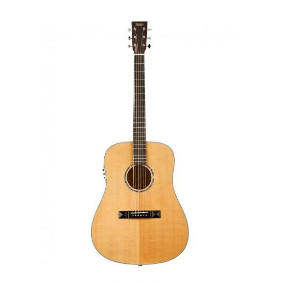 Tasman TA300-E Acoustic Electric Guitar with Case