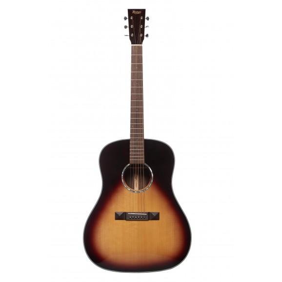Tasman TA200D-EL LH Drop Shoulder Acoustic Electric Guitar w/ Case