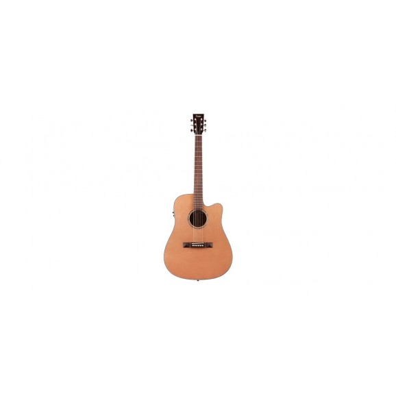 Tasman TA100-CE Cutaway Acoustic Electric Guitar with Case