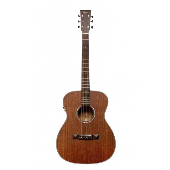 Tasman TA150O-E OM Acoustic Electric Guitar w/ Case