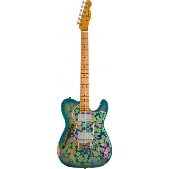 Fender Custom Shop 72 Tele Thinline Relic Aged Blue Flower
