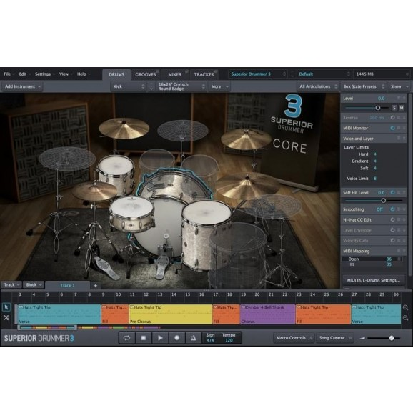 Superior Drummer 3.0 Software