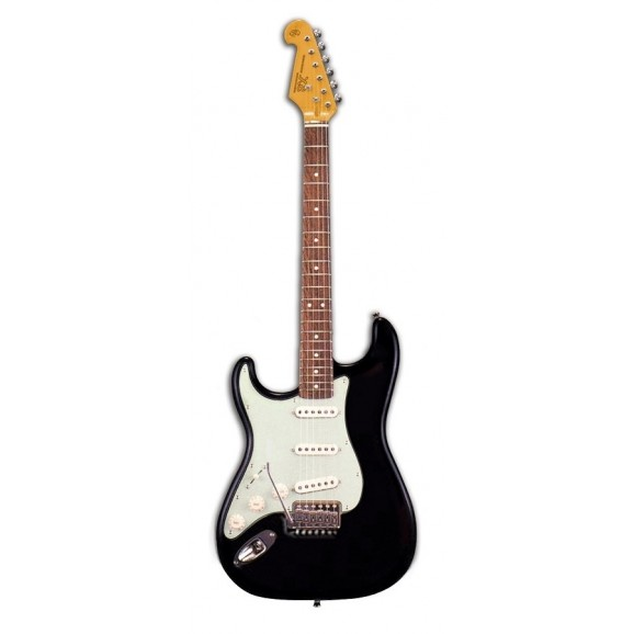 Essex VES34LHB 3/4 Size Left Handed Electric Guitar - Black