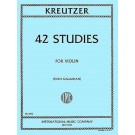 42 Studies - Ivan Galamian   Rodolphe Kreutzer (Violin)  - International Music Company. Softcover Book