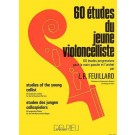60 Studies of the Young Cellist -    Louis Feuillard (Cello)  - Delrieu. Softcover Book