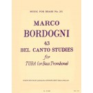 43 Bel Canto Studies for Tuba (or Bass Trombone) -    Marco Bordogni (Bass Trombone|Tuba)  - Robert King. Softcover Book