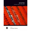 40 Modern Studies for Solo Clarinet -    James Rae (Clarinet)  - Universal Edition. Softcover Book