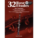 32 Etudes for Clarinet - Melvin Warner   Cyrille Rose (Clarinet)  - Carl Fischer. Sftcvr/Online Audio Book