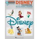 Disney -    Various (Trombone) Easy Instrumental Play-Along - Hal Leonard. Sftcvr/Online Audio Book