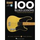 100 Blues Lessons -  Various   (Bass Guitar) Goldmine Series - Hal Leonard. Sftcvr/Online Audio Book