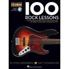 100 Rock Lessons -  Various   (Bass Guitar) Bass Instruction - Hal Leonard. Sftcvr/Online Audio Book