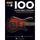 100 Funk/R&B Lessons -  Various   (Bass Guitar) Bass Instruction - Hal Leonard. Sftcvr/Online Audio Book