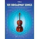 101 Broadway Songs for Viola -    Various (Viola) 101 Instrumental Folios - Hal Leonard.  Book