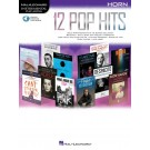 12 Pop Hits - Horn -     (French Horn) Instrumental Play-Along - Hal Leonard. Sftcvr/Online Audio Book