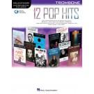 12 Pop Hits - Trombone -     (Trombone) Instrumental Play-Along - Hal Leonard. Sftcvr/Online Audio Book