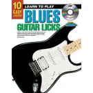 10 Easy Lessons Learn To Play Blues Guitar Licks Book/CD/DVD