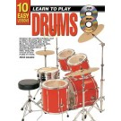 10 Easy Lessons Learn To Play Drums Book/CD/DVD