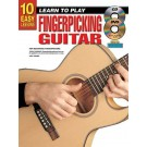 10 Easy Lessons Learn To Play Fingerpicking Guitar Book/CD/DVD