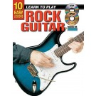 10 Easy Lessons Learn To Play Rock Guitar Book/CD/DVD