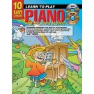 10 Easy Lessons Learn To Play Piano for The Young Beginner Book/CD/DVD