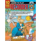 10 Easy Lessons Learn To Play Recorder for The Young Beginner Book/CD/DVD