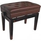 AMS Piano Stool Height Adjustable Walnut w/Storage