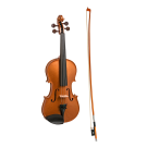 Stentor Harlequin Series 3/4 Size Violin in Metallic Bronze